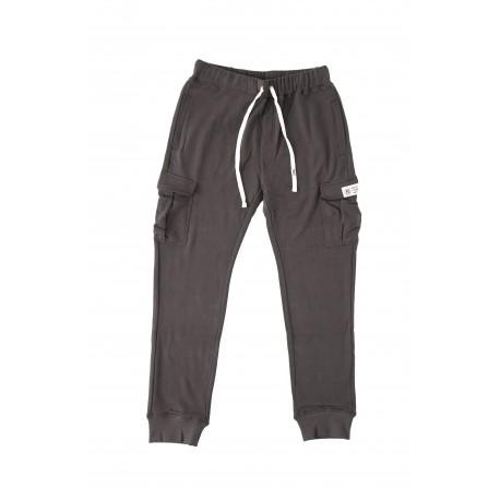 Everlast Pantalone Indigo Tasche Laterali Grigio Chiaro