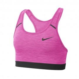 Nike Reggiseno Sportivo Swoosh No Pad Rosso Donna