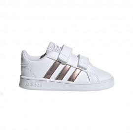 ADIDAS sneakers grand court td bianco bronzo bambino