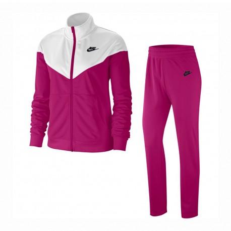 Nike Tuta Sportiva Poly Fucsia Donna