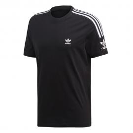 ADIDAS originals t-shirt bande laterali nero uomo