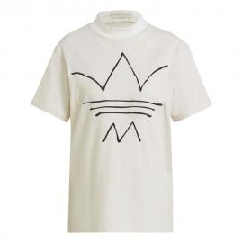 ADIDAS originals t-shirt big log bianco donna