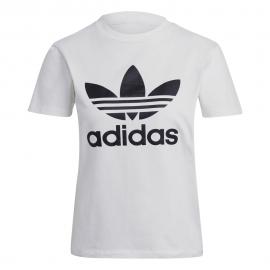 ADIDAS originals t-shirt logo bianco donna