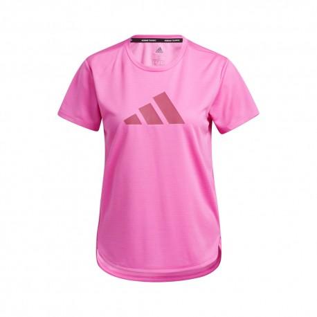 ADIDAS maglietta palestra logo fucsia donna