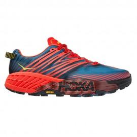 Hoka Scarpe Trail Running Speedgoat 4 Blu Arancio Uomo