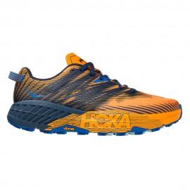 Hoka Scarpe Trail Running Speedgoat 4 Grigio Arancio Uomo