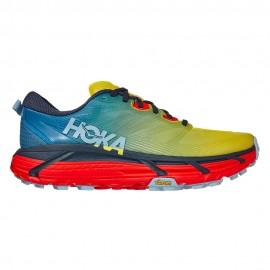 Hoka Scarpe Trail Running Mafate Speed 3 Blu Arancio Uomo