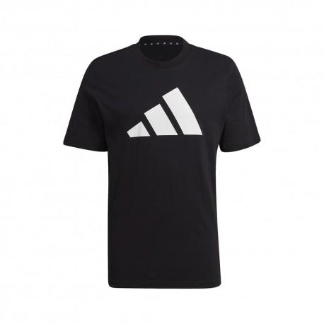 ADIDAS maglietta palestra sportswear logo nero uomo
