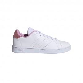 ADIDAS sneakers advantage k bianco rosa bambina