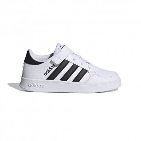ADIDAS sneakers breaknet c bianco nero bambino