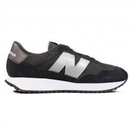 New Balance Sneakers 237 Suede Mesh Nero Grigio Donna