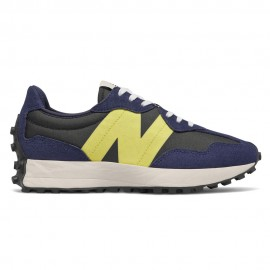 New Balance Sneakers 327 Suede Mesh Blu Lime Donna
