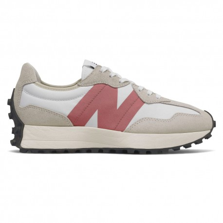 New Balance Sneakers 327 Suede Mesh Beige Rosa Donna