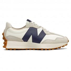 New Balance Sneakers 327 Suede Mesh Beige Blu Donna