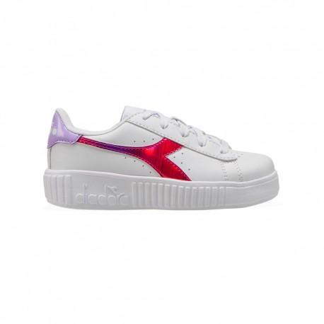 Diadora Sneakers Game Step Rainbow Ps Bianco Fucsia Bambino