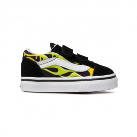 Vans Sneakers Old Skool V Slime Td Verde Bianco Bambino