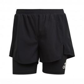 ADIDAS shorts sportivi 2 in 1 nero donna