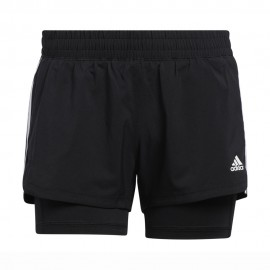 ADIDAS shorts sportivi 3stripes 2 in 1 nero donna
