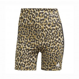 ADIDAS shorts sportivi leopard nero donna