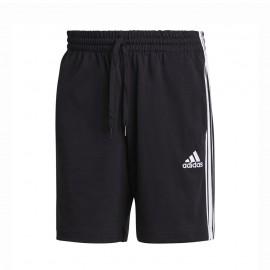 ADIDAS shorts sportivi triband nero bianco uomo