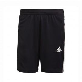 ADIDAS shorts sportivi triband nero uomo