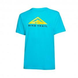 Nike T-Shirt Trail Running Dry Blu Uomo