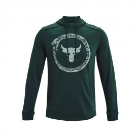Under Armour Felpa Palestra Cappuccio The Rock Grigio Uomo