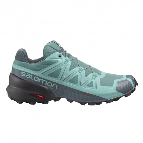 Salomon Scarpe Trail Running Speedcross 5 Turchese Donna