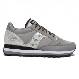 Saucony Sneakers Jazz Triple Snakeskin Grigio Argento Donna