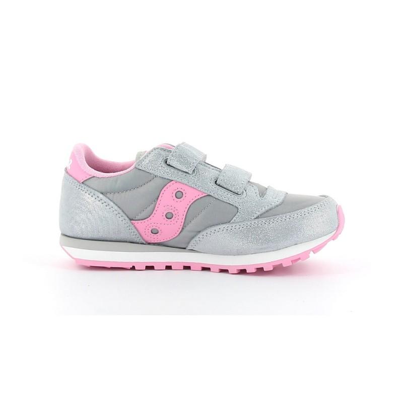 Saucony Sneakers Jazz Double Hl Psv Grigio Rosa Bambina