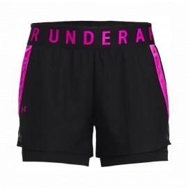 Under Armour Shorts Sportivi 2 In 1 Fucsia Donna