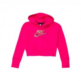 Nike Felpa Con Cappuccio Rtl Pack Fucsia Bambina
