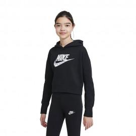 Nike Felpa Con Cappuccio Rtl Pack Nero Bambina