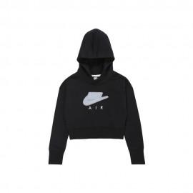 Nike Felpa Logo Air Swoosh Nero Bambina