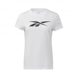 Reebok Maglietta Palestra Logo Bianco Donna