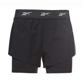 Reebok Shorts Sportivi 2 In 1 Nero Donna