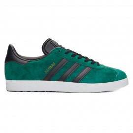ADIDAS originals sneakers gazelle verde nero uomo