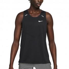 Nike Canotta Running Dri-Fit Rise 365 Nero Grigio Uomo