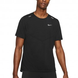 Nike Maglia Running Rise 365 Nero Grigio Uomo