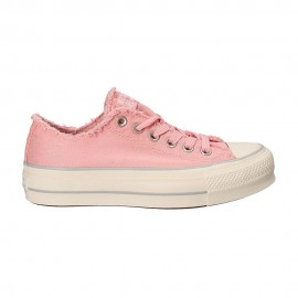 Converse Sneakers Canvas Frayed Ox Platform Rosa Donna
