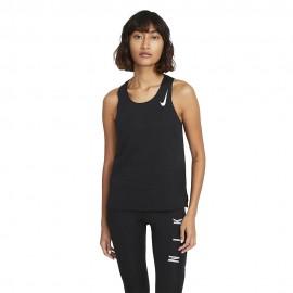 Nike Canotta Running Aeroswift Bianco Nero Donna