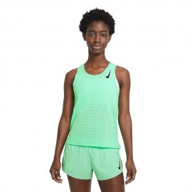 Nike Canotta Running Aeroswift Verde Nero Donna