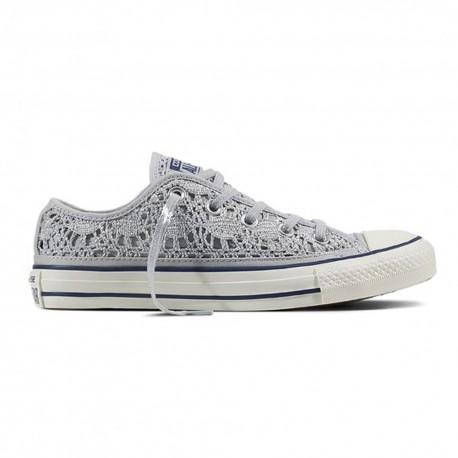 Converse Sneakers Chuck Ox Crocket Grigio Donna