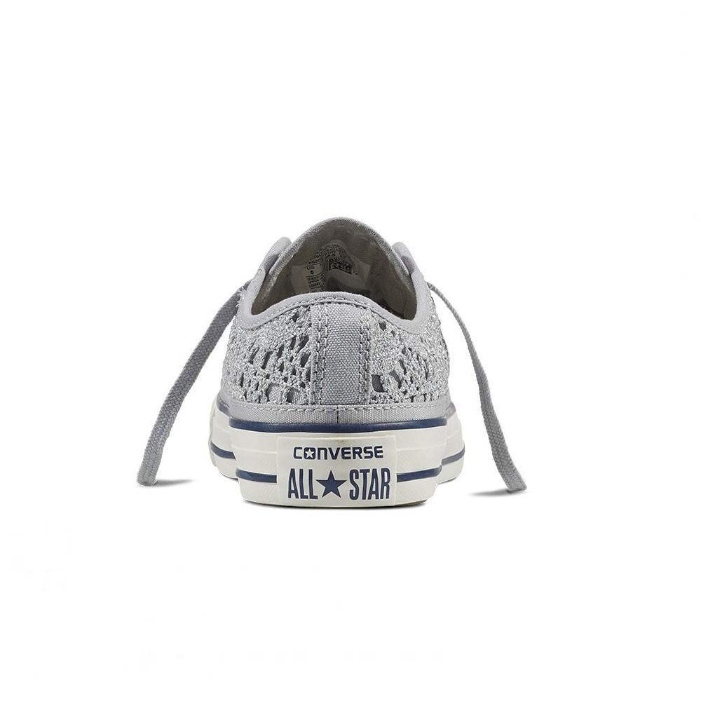 Converse Sneakers Chuck Ox Crocket Grigio Donna - Acquista online ...