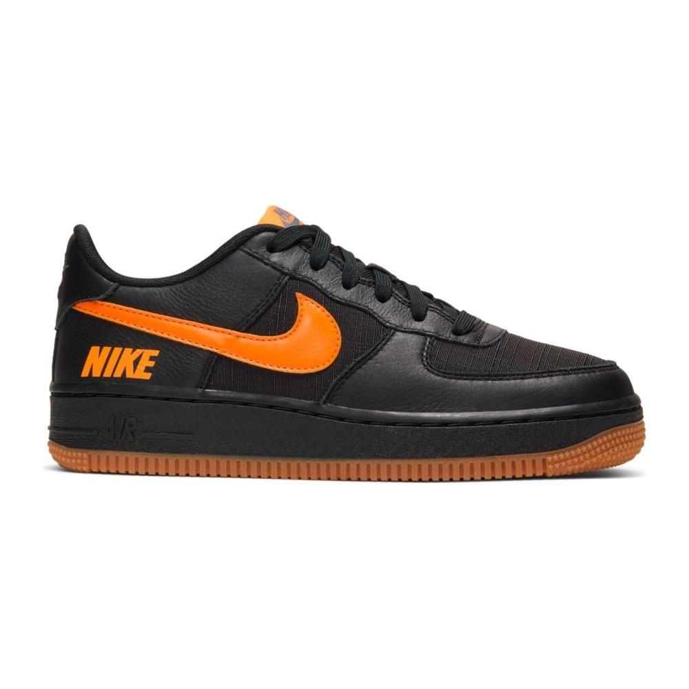 Nike Sneakers Air Force 1 Lv8 5 Gs Nero Arancione Bambino ...