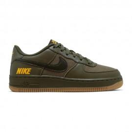 Nike Sneakers Air Force 1 Lv8 5 Gs Verde Marrone Bambino