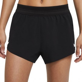 Nike Short Running Aeroswift Nero Bianco Donna