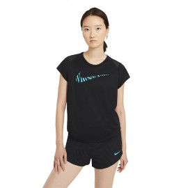 Nike Maglia Running Icon Clash Nero Grigio Donna