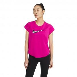 Nike Maglia Running Icon Clash Rosso Grigio Donna