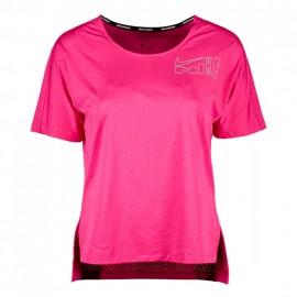 Nike Maglia Running City Sleek Icon Clash Rosso Bianco Donna